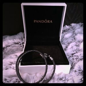 Pandora leather double wrap bracelet